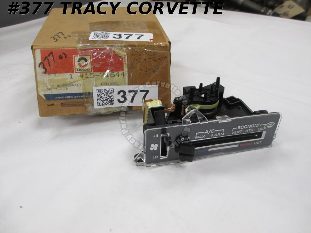 1977-82 Corvette NOS 14020093 15-71644 Heater AC Control Delco-AS IS Not Working
