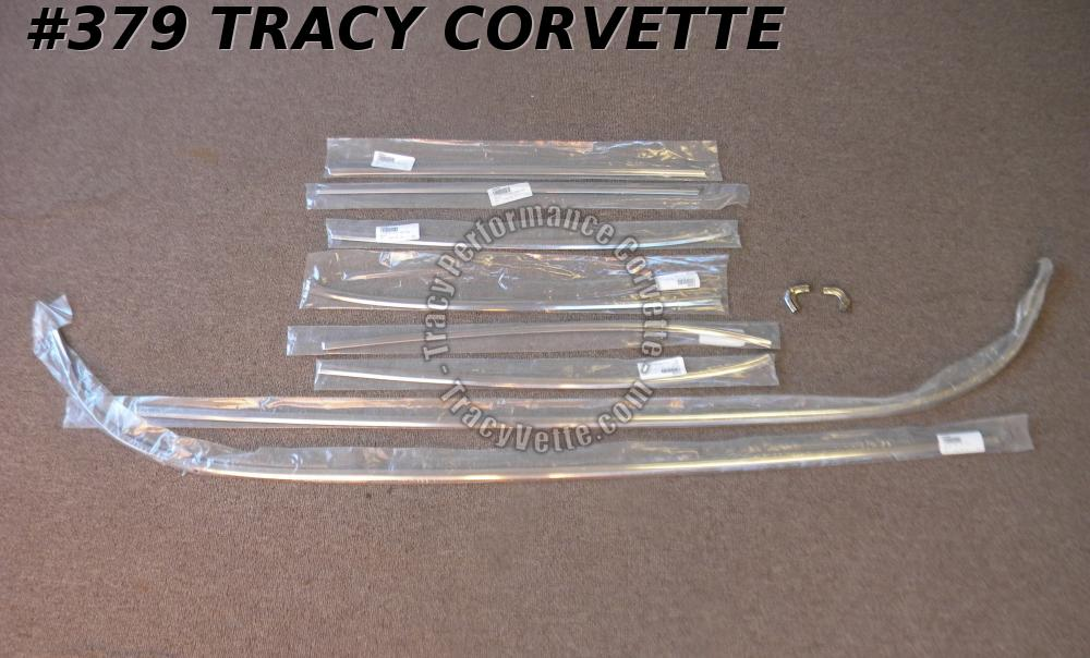1958-1961 Corvette New 10 Piece Cove Side Molding Set Complete Set/Both Sides C1