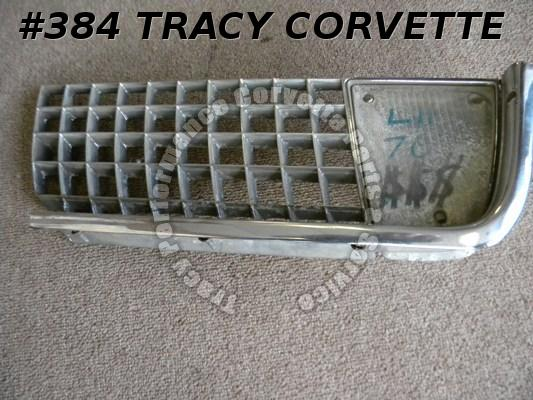 1970 Corvette Used Rare Original 3966793 LH Outer Grill 70 Only Stud Type Grille