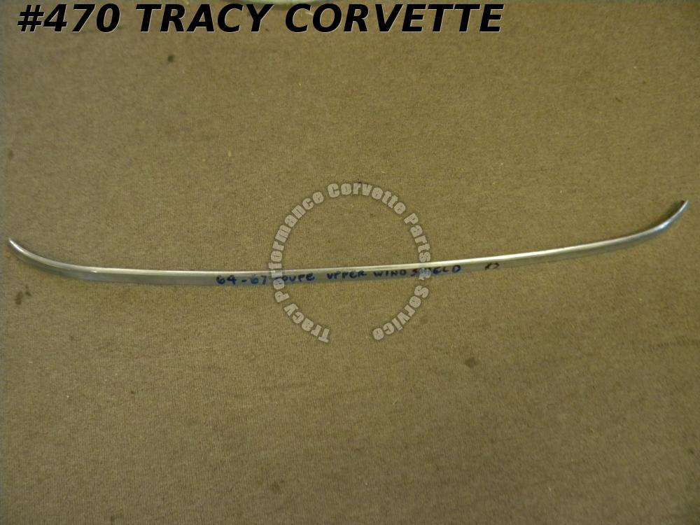 1964-1967 Corvette Used Original 3841255 Coupe Upper Windshield Mldg 64 65 66 67