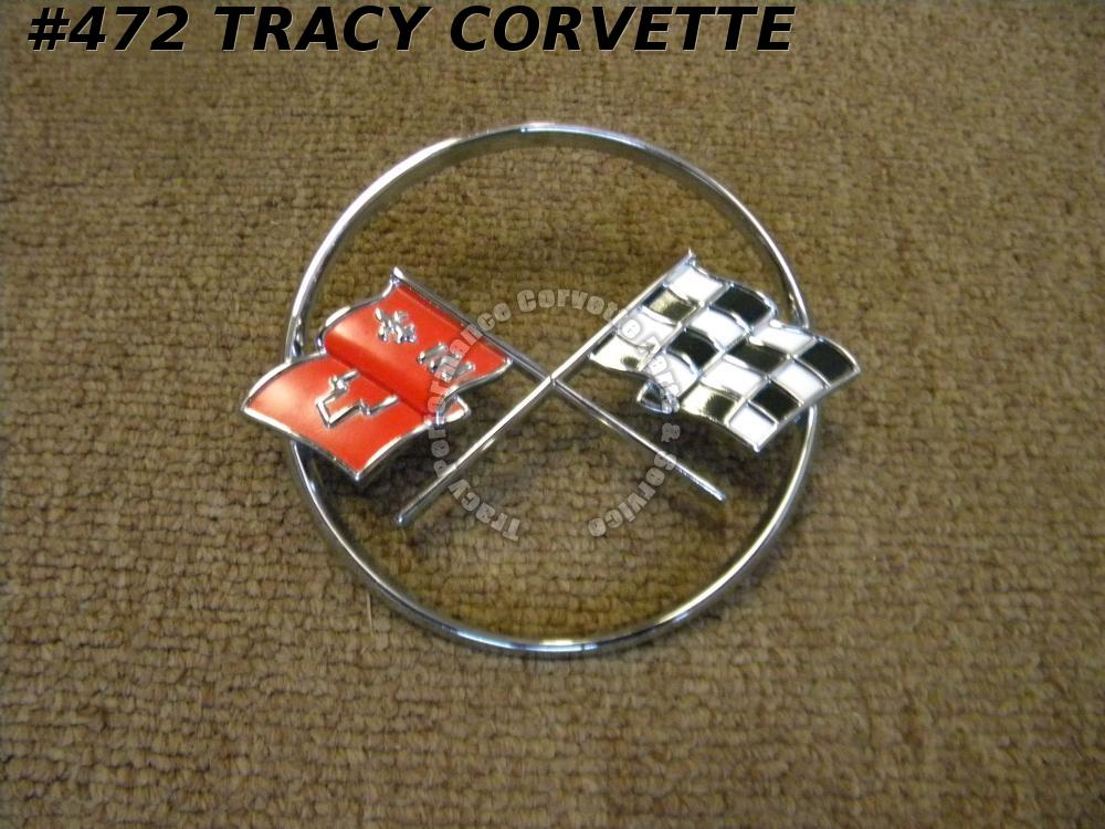 1962 Corvette New Reproduction 3796355 Nose Emblem - Made in USA