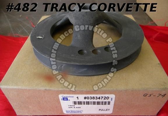 1965-1974 Corvette NOS 3834720 SBC P/S Pump Pulley 65 66 67 68 69 70 71 72 73 74