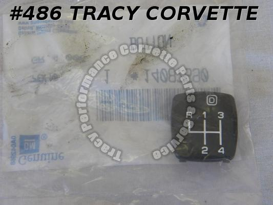 1985L-88 Corvette NOS 14087690 4+3 Overdrive Shifter Button 85 1986 86 1987 1988