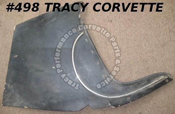 1958-62 Corvette Original LH Kick Panel 58 59 60 61 62