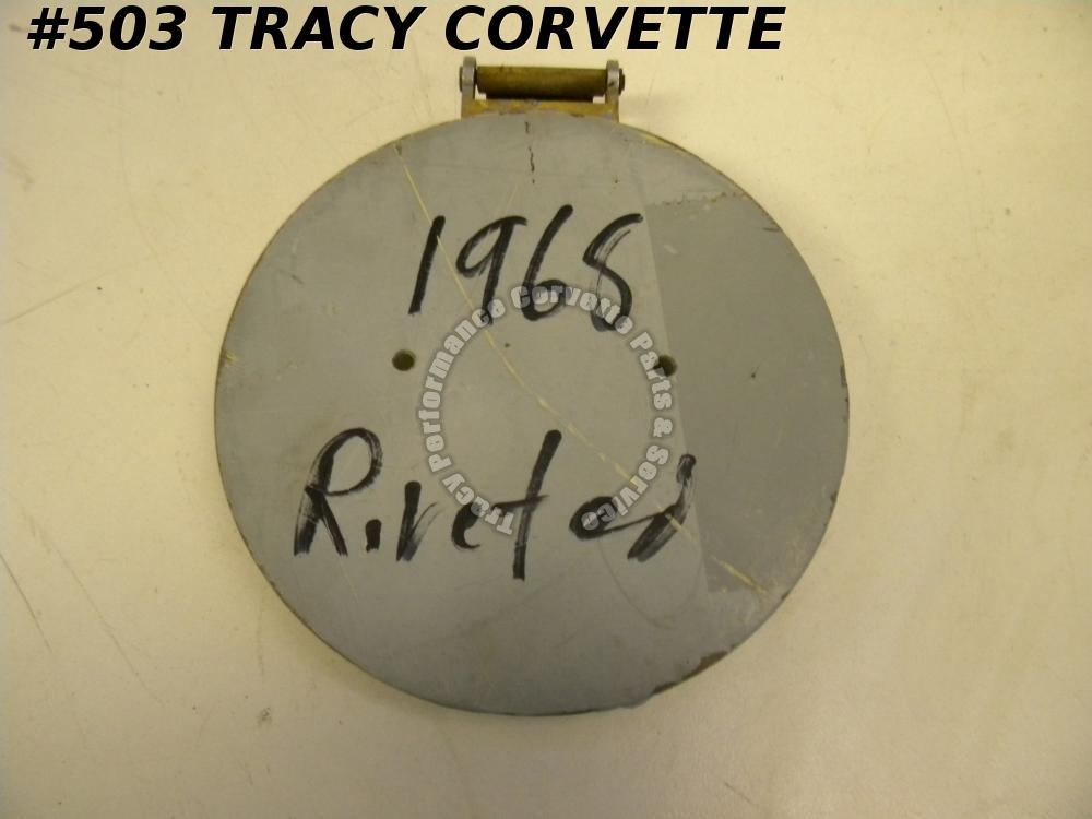 1968 Corvette Only Used Orig. 3930364 Gas Door w/Hinge Survivor Riveted Assembly