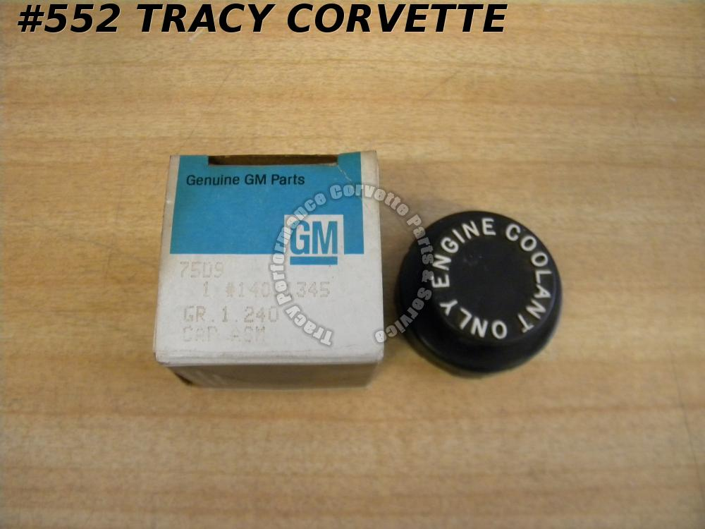 1977-82 Corvette NOS 14011345 Coolant Reservoir Cap 77 78 79 80 81 82