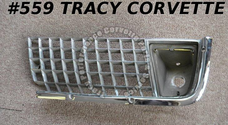 1971-1972 Corvette Used Original 5964683 LH Outer Grill 71 72 Will also Fit 1970