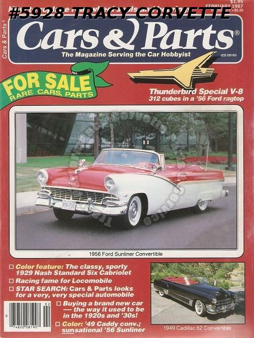 February 1987 Cars Parts 1956 Ford Sunliner Convertible 1949 Cadillac 62 Conv Ebay