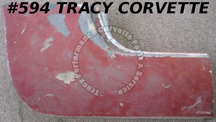 1956-60 Corvette Original RH Rear Rocker Kick Up Panel 56 57 58 59 60