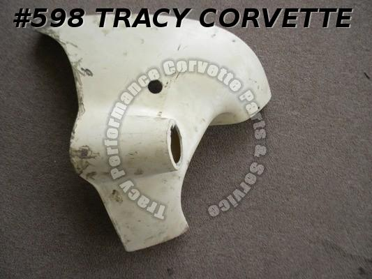 1963-67 Corvette Used 3831930 Original RH Parking Lamp Panel 64 65 66 WhiteGlass
