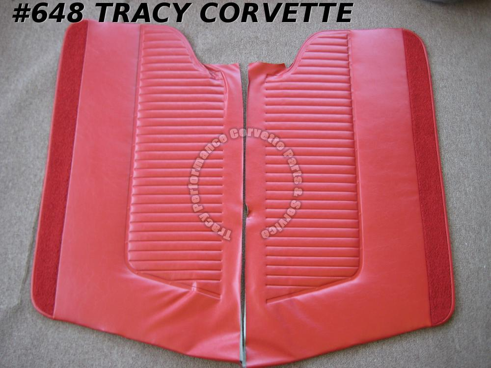 1963 1964 Corvette New Red or Black Door Panels without Metal - Specify Color