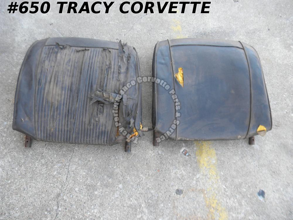1961-1962 Corvette Used Original Seat Back Frames w/Springs/Pair 62 Need Rebuilt