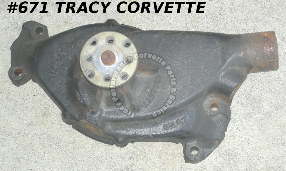 1972 Camaro Chevelle Corvette GM# 3992077 Water Pump Big Block - Date Coded