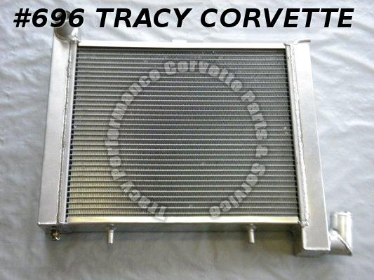 1963-1972 Corvette 3155316 Radiator Replacement Aluminium Small Blk Manual Trans