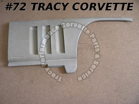 1965-1966 Corvette NOS 3857526 Gray RH PM Louver Fender Match Die Molded Panel