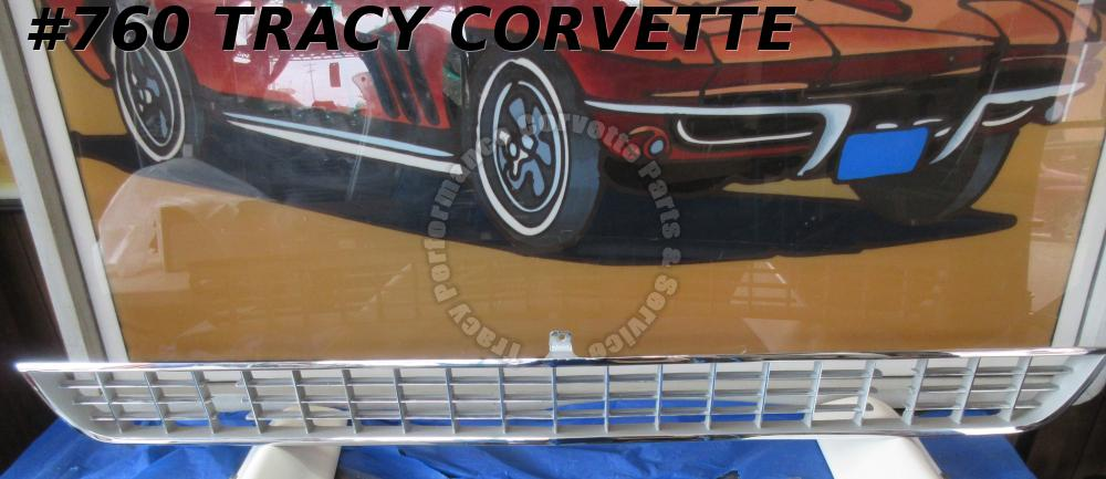 1966-1967 Corvette Grille GM# 3875746  Chrome Argent w/o Brackets