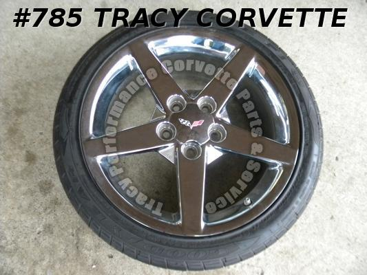 2005-2010 Corvette Polished 18 x 8.5 Wheel+F1 EMT P245X40ZR18 05 06 07 08 09 10