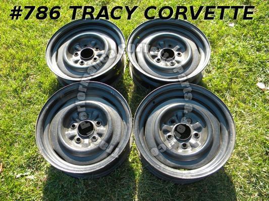 "1965 1966 Corvette Used Original 3869156 15""x5.5 Wheels Rims/4 Steel Disc Brake"