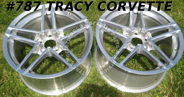 "2005-2008 Corvette Z06 NOS New Polished 18"" x 9.5"" GM Wheels/ 1 Pair 05 06 07 08"