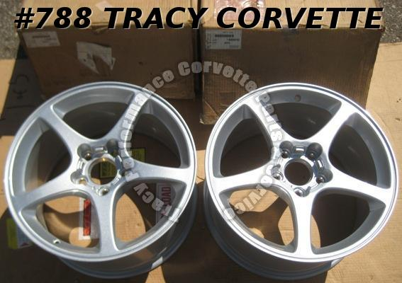 "2000-2004 C5 Corvette NOS 9994183 18"" x 9.5"" Aluminum Wheels/Pair 00 01 02 03 04"