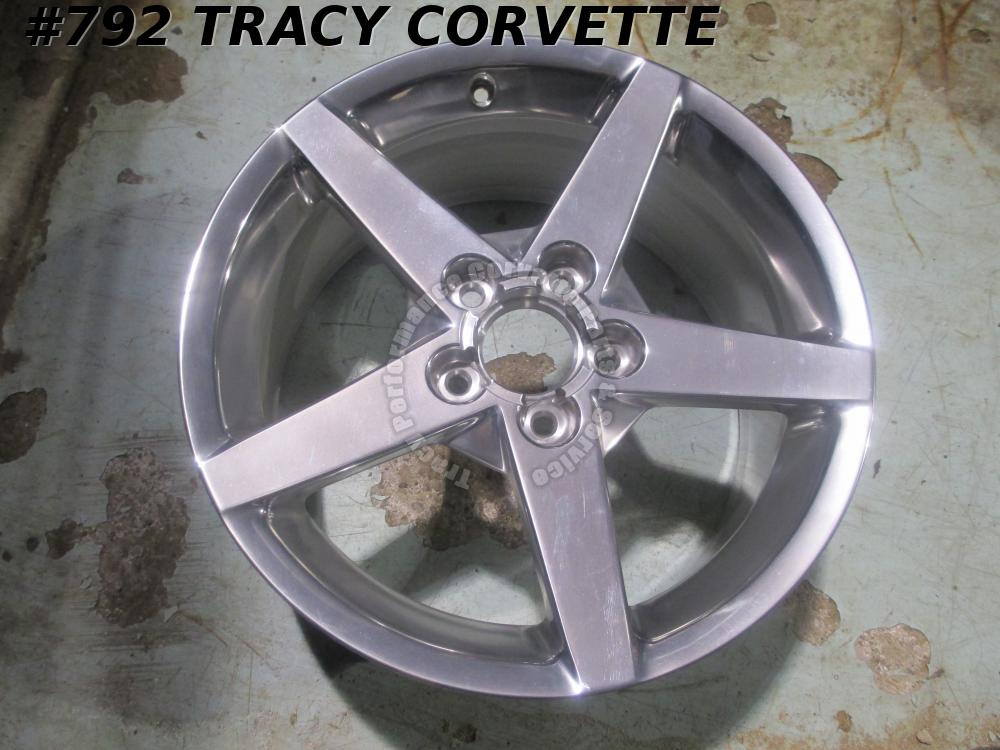 2005 2006 2007 2008 C6 Corvette NOS 9594346 Polished 18 X 8.5 Stock Wheel/1