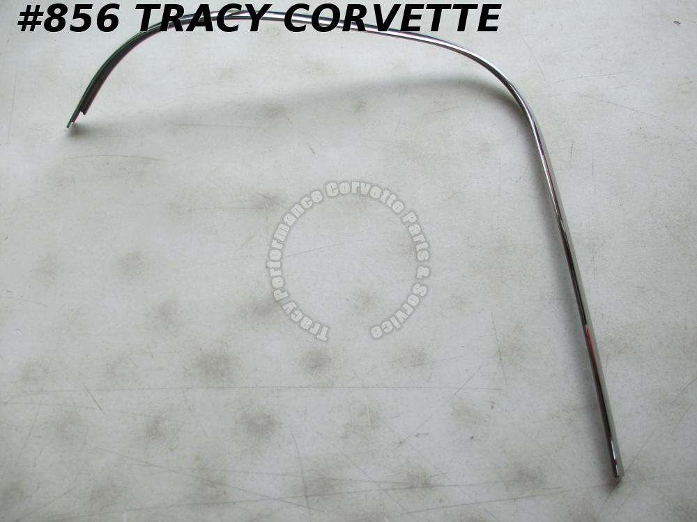 1963 Corvette NOS 3825015 Split Window Coupe Outside Upper LH Rr Window Molding
