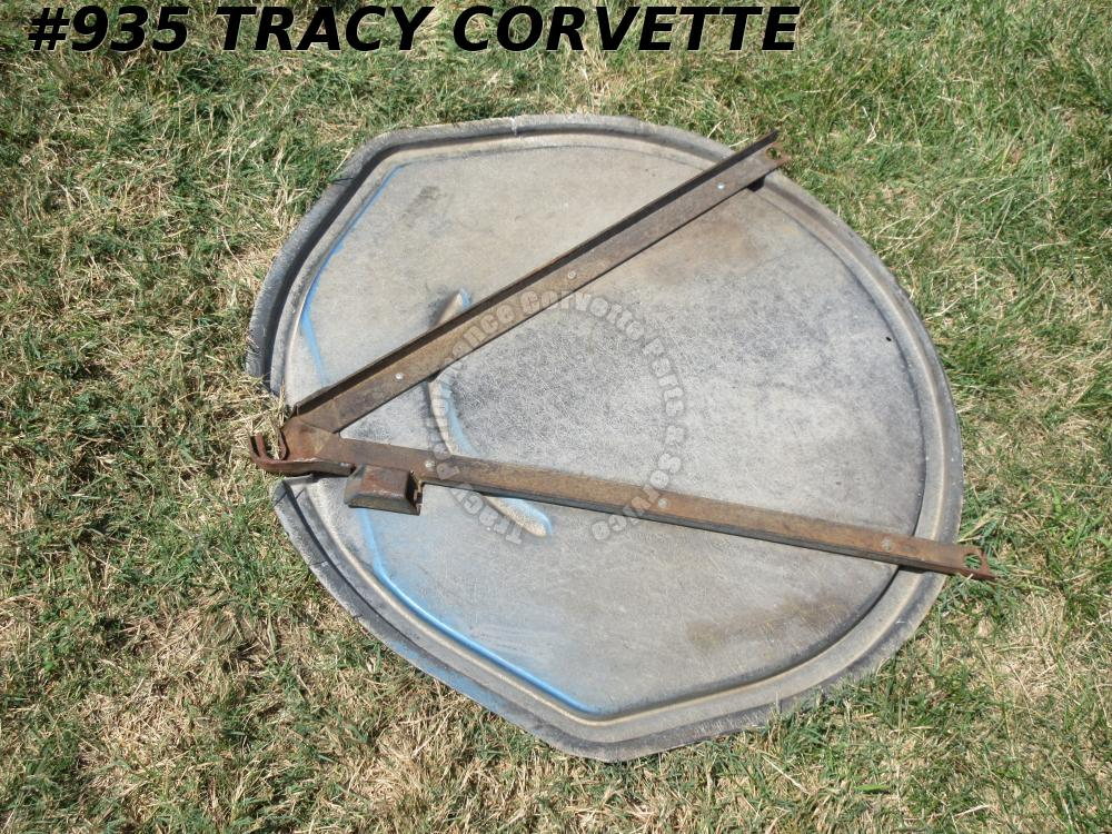 1963-1967 Corvette Used Orig. Spare Tire Carrier Tray Lid Asm w/No Glass Repairs